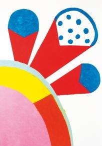 contamination par l'objet - John Deneuve Huile et feutre sur papier 120 x 80 cm